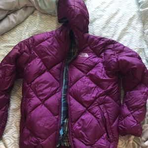 Girl's North Face Reversible Winter Coat